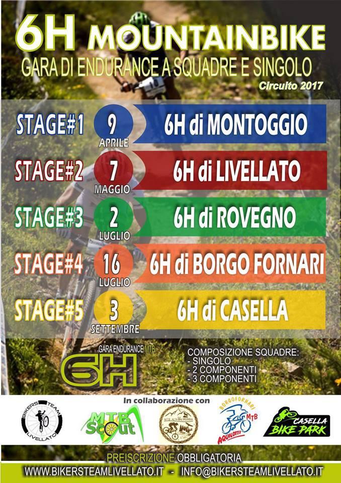 Circuito 2017 6 Ore di Mountainbike in provincia di Genova