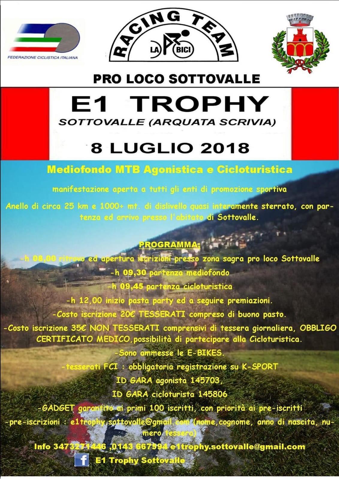 E1 Trophy 2018 – Gara di MTB ad Arquata Scrivia (AL)