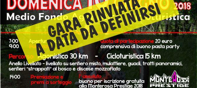 Tour Del Monte Figogna 2018 – Gara rinviata a data da destinarsi