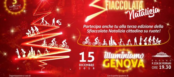 Sfiaccolata natalizia in Mountain Bike in centro a Genova