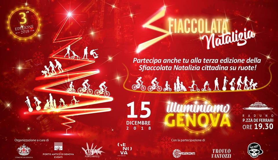 Sfiaccolata natalizia in Mountain Bike in centro a Genova